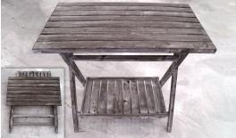 WOODEN TABLE WITH SHELF 0519354