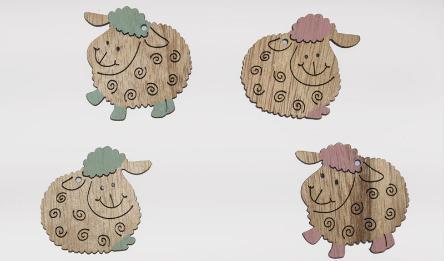 XY16-60764E sheep 25pcs/bag 0519494