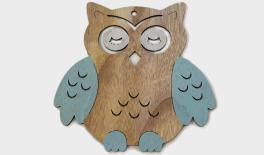 24x24CM OWL SAPPHIRE BLUE 0519521