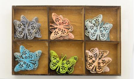 mix Color butterfly 24pcs/box 19x13CM 0519566