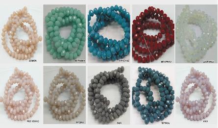 5x6 cut surface wheel beads 97-100pcs/line 0519576