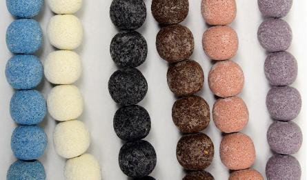 20mm Lava round beads 20pcs/line 0519578