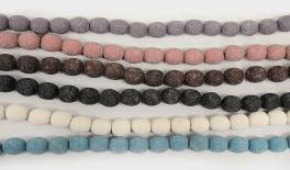 12mm Lava round beads 33pcs/line 0519580