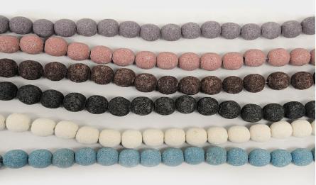 12mm Lava round beads 33pcs/line 0519580