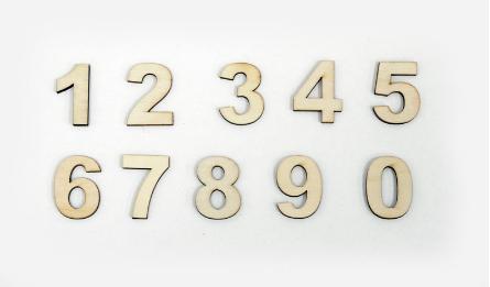 ΞΥΛΙΝΑ ΑΥΤΟΚΟΛΛΗΤΑ 3cm ΝΟΥΜΕΡΑ 0-9 0519619