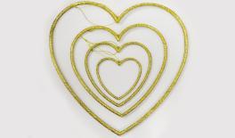 HEE-16974 15*15*0.6cm plastic heart hanger 0519636