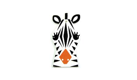 Middle Wood Zebra with hole size:4.1*8cm thickness:3mm 0519649