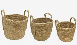 10728 Corn bract knitted basket size:29*22 24*18 22*15 0519662