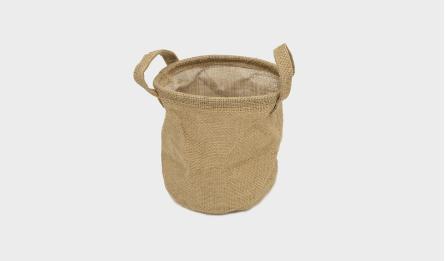 Flax flower bucket S/3 17*17(H)cm 0519663