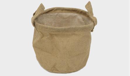 Flax flower bucket S/3 24*20(H)cm 0519665