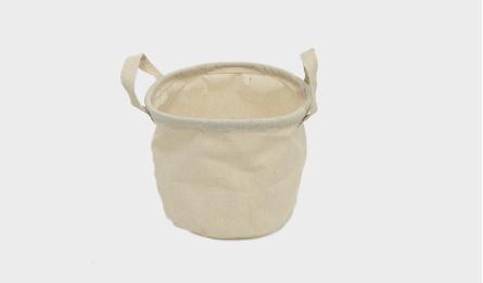 Polyester-mixed cotton cloth bucket S/3 17*17(H)cm 0519666