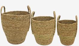 HK-Y2525-65 Straw basket set size:36*38cm 31*34CM 26*32CM 0519672