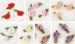 Little rose flower with ribbon 100pcs 0520121
