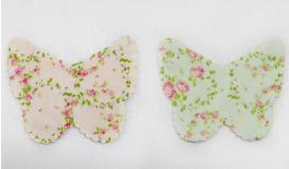 POUCHES FLOWERS BUTTERFLY COTTON 12x9cm 0527136