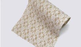 BURLAP WITH LACE ROLL 25CM 5Y 0527152