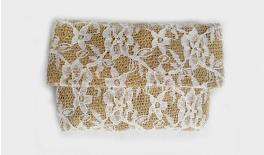 ENVELOPES BURLAP WITH LACE 12x8.5CM 0527155