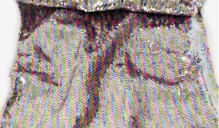 5M double color paillette 1.3m width cut 4 times  0527236