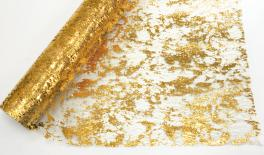 Net with irregular gold print 1.50m*10Y 0527275