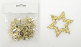 HMD-18666A 11*13cm S/12 wooden star in polybag 0531077