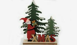 HDC-19550A 21.5*20cm wooden tree/santa/x'mas holder 0531078