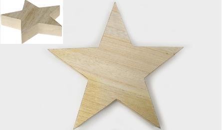 HDN-182898 30*6*28CM wooden star 0531108
