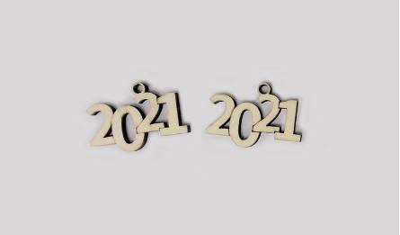 2021 ΞΥΛΙΝΟ 4cm x 2.8cm ΚΡΕΜΑΣΤΟ 0531115
