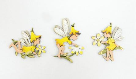 HCK-19125A1-3 6x5x0.3cm fairy girl yellow 0531138