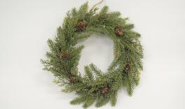 ST15-H049 D30cm Wreath, green 0532017