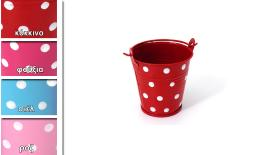 METAL BUCKET DOTS 5.5cm 0620033