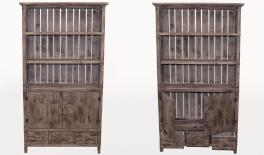95172 wood cabinet 95x32x187CM 0621065