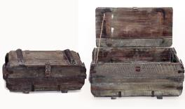 951710 wood box s/2 69x31x32/57x25x22cm 0621070