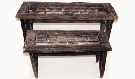 951711 wood chair 72x35x34/100x36x50cm 0621071