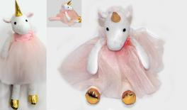 17AY04S Unicorn with veil 34cm 0621099