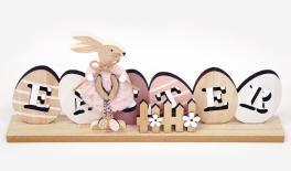HAG-550942 30x4x13cm wooden EASTER with rabbit 0621169