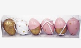 6cm egg 25x7x5cm S/6 6cm plastic egg hanger in pvc box 0621185