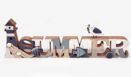 ΞΥΛΙΝΟ ΔΙΑΚΟΣΜΗΤΙΚΟ SUMMER HAG-550043 48x15cm 0621199