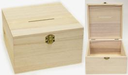 Wood coin box 20*20*12cm 0621255