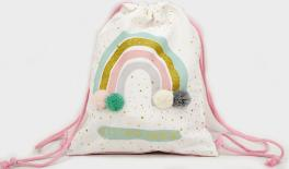 XYX19-169B FABRIC BACKPACK,RAINBOW DESIGN,30X25CM 0621301